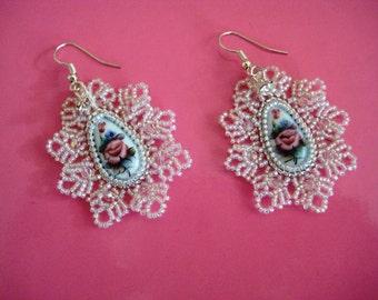 """DIY kit creative set earrings """"Rostov Finift"""" embroidery beading"""