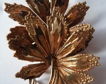 Vintage Brooch/Pin Signed Rolled Gold Kollmar Jourdan