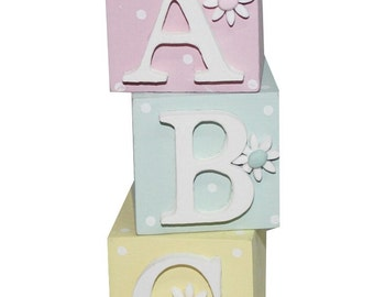 A B C Wooden Blocks