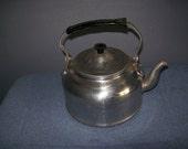 vintage aluminum teapot