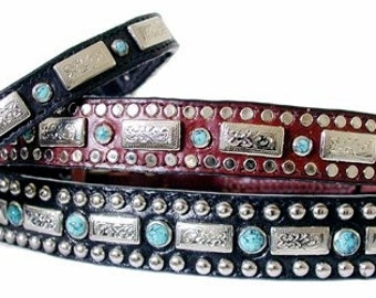 """1/2"""" Square Turquoise Collars (Small Sizes 3/8"""" & 1/2"""" wide)"""