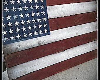 Reclaimed Wood American Flag