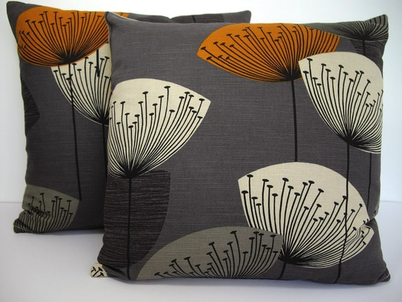 Sanderson Dandelion Clocks Reto 50s Cushion Cover Slate