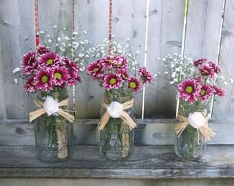 Rustic Wedding Decor / Mason Jar Wedding Centerpiece /Wedding Candle Holder / Rustic Wedding Light / Country Wedding Decoration / Raffia