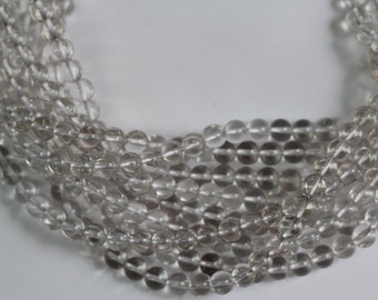 """Rock Crystal 8mm smooth round beads 8"""" length strand"""