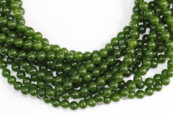 """Taiwan Jade(dyed) 8mm smooth round beads 16"""" length full strand"""