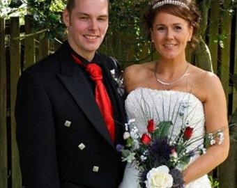 Stunning Scottish Thistle Wedding Bouquet