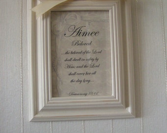 Framed Name with meaning
