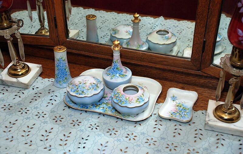 9 Pc Porcelain Dresser Vanity Set Antique Limoges Amp Mz