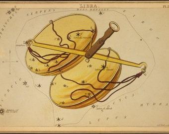 Constellation de la balance Print Vintage