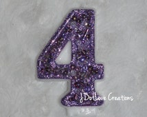 Lavender - Purple Sparkly Birthday Candle - You Choose The Number