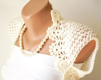 Ivory Wedding Shrug, Ivory Boleros, New design
