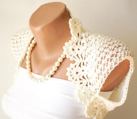 Items similar to ivory wedding shrug ivory boleros new for Designer bolero