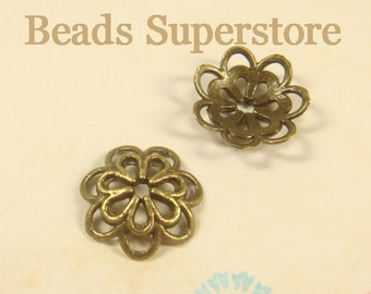 14 mm x 4 mm Antique Bronze Bead Cap - Nickel Free, Lead Free and Cadmium Free - 20 pcs