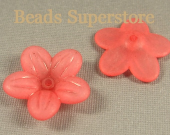 20 mm x 5 mm Red Lucite Flower Bead - 10 pcs