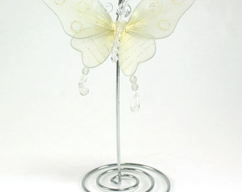 "Glitter Butterfly Place Card Holders 7"" (pack of 1 stand)  - ** FREE SHIPPING **"