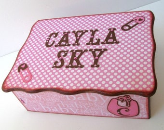 Personalized Baby Keepsake Box Baby Memory Box