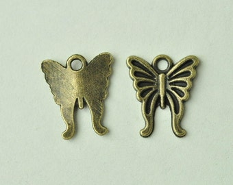 20pcs Antique Bronze Butterfly Charms 16x15mm MM895
