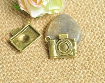 10pcs Antique Bronze Digital Camera Charms 20x17mm MM340