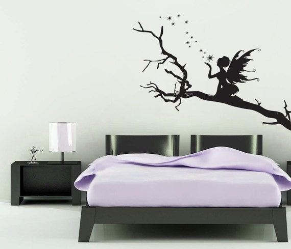 Fairy On A Branch Wall Sticker Girls Room