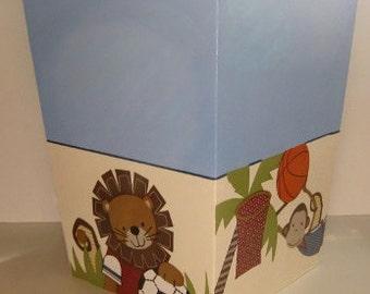Nursery Trash Can M2m Team Safari Bedding Lambs Amp Ivy