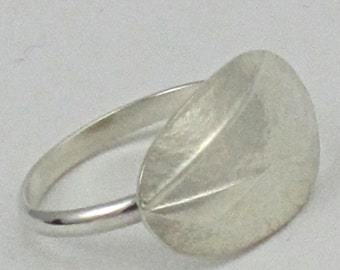 small shield, sterling silver ring