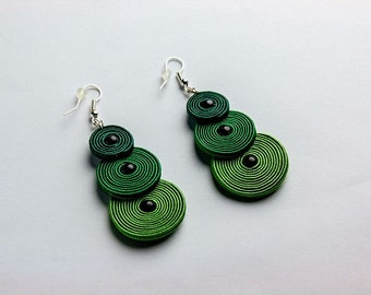 Greenpeace - soutache earrings