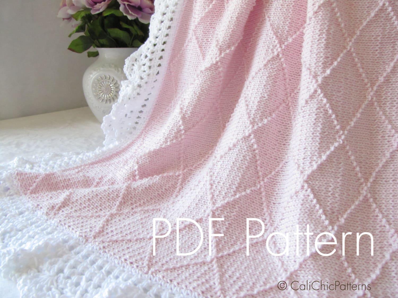 Knit Picky Patterns Baby Blankets : Knitting PATTERN 63 Paris Knit Baby Blanket by CaliChicPatterns