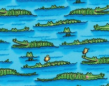Fat Quarter Down Under - Crocs Turquoise - Cotton Quilt Fabric - by Kanvas - Benartex - Crocodiles (W158)