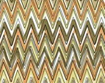 One Yard Down Under - Fun Stripe Neutral - Cotton Quilt Fabric - by Kanvas - Benartex (W169)