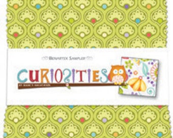 "Curiosities 5"" Squares Charm Pack - by Nancy Halvorsen for Benartex - 40 pieces (W151)"