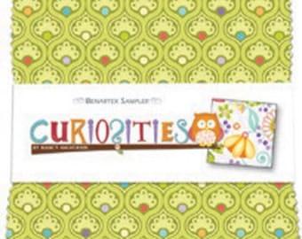 "Curiosities 5"" Squares Charm Pack - by Nancy Halvorsen for Benartex - 40 pieces (W151)"