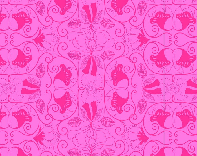 Half Yard Islandia Pink Cotton Quilt Fabric - Molokai by Jessica Swift for Blend Fabrics (W7)