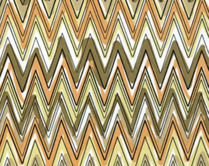 SUPER CLEARANCE! One Yard Down Under - Fun Stripe Neutral - Cotton Quilt Fabric - by Kanvas - Benartex (W169)