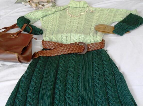 Molto Abiti a maglia vestiti fatti a mano in stile Aran Abiti EZ89