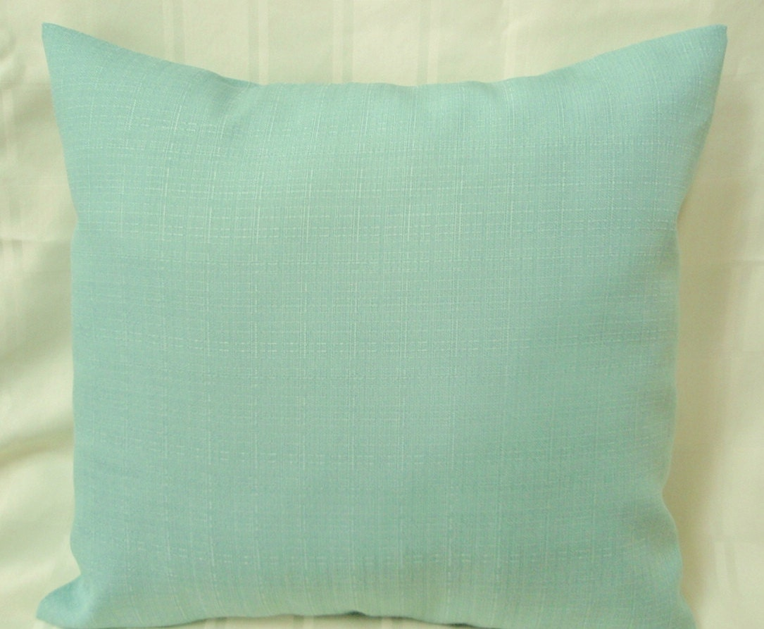 Seafoam Blue Decorative Pillows : Solid color seafoam green throw pillow for indoor or outdoor