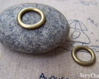 20 pcs of Antique Bronze Smooth Round Circle Rings 15mm A1725
