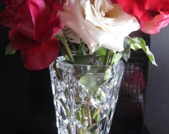 "Made in France, ""crystal d' arque"" vase."