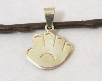 Vintage Sterling silver Hand pendant