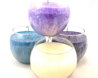 40 plus hours, scented palm wax Fish Bowl Candle