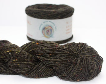 Spinning Yarns Weaving Tales - Tirchonaill 517 Olive Green 100% Merino for Knitting, Crochet, Warp & Weft