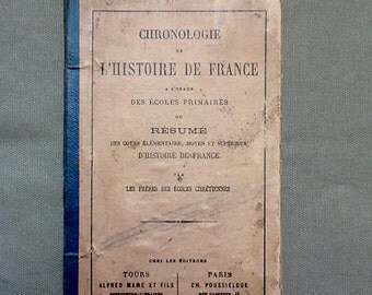 French history book from the 19th century