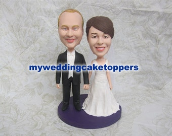 Wedding cake topper bobbleheads head shaking Free shipping