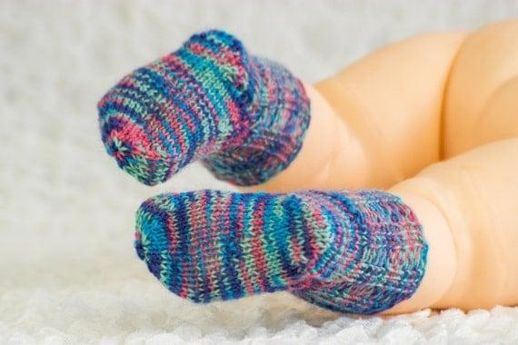 FREE KNITTING PATTERN, Baby Socks Sample Pattern, Free ...