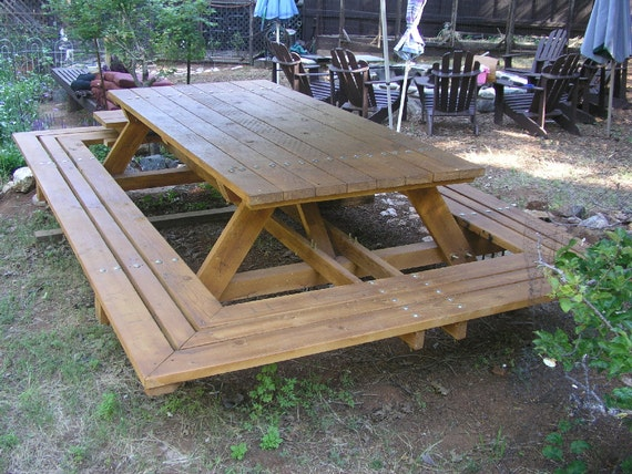 custom made picnic tables large thru bolt picnic tables. Black Bedroom Furniture Sets. Home Design Ideas
