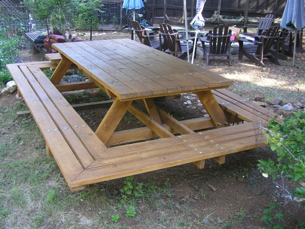 Custom Made Picnic Tables Large Thru-Bolt by MidCenturyWoodShop