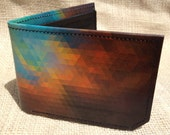 Leather wallet - mens wallet - color spectrum wallet