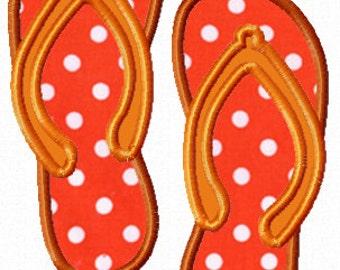 INSTANT DOWNLOAD - Flip Flop Sandal Digital Applique Design