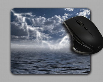 Mouse Pad,lightning,Ocean,Cloth Top Mousepad,Office Decor,Photograph mouse Pad, MP-044