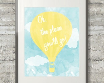 Oh The Places You'll Go Printable Dr. Suess Quote Poster